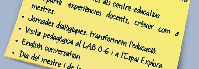 Informació de l'Escola de Tardor